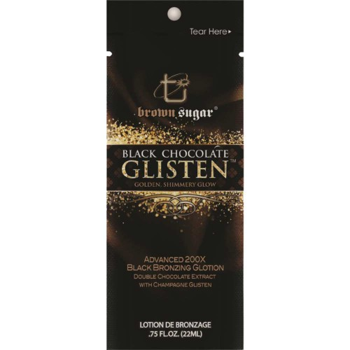 Brown Sugar, 200х Сияющее крем-шампанское для загара мгновенного действия Black Chocolate Glisten, 22 мл