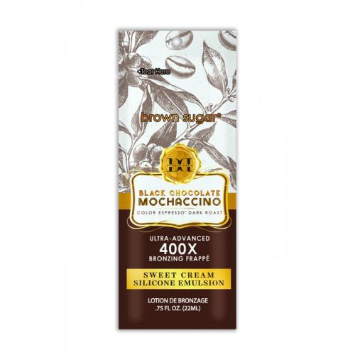 Brown Sugar, 400х Тонизирующее кофейное Моккачино для загара Double Dark Black Chocolate Mochaccino, 22 мл