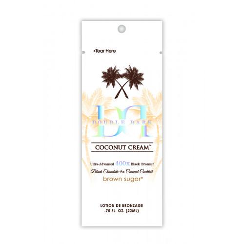 Brown Sugar, 400х Питательный кокосовый крем для загара мгновенного действия Double Dark Coconut Cream, 22 мл