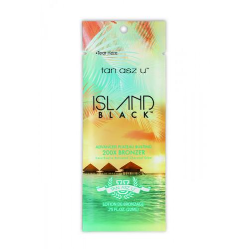 Tan Asz U, 200х Экзотический питательный-лосьон, пробивающий плато загара Island Black, 22 мл